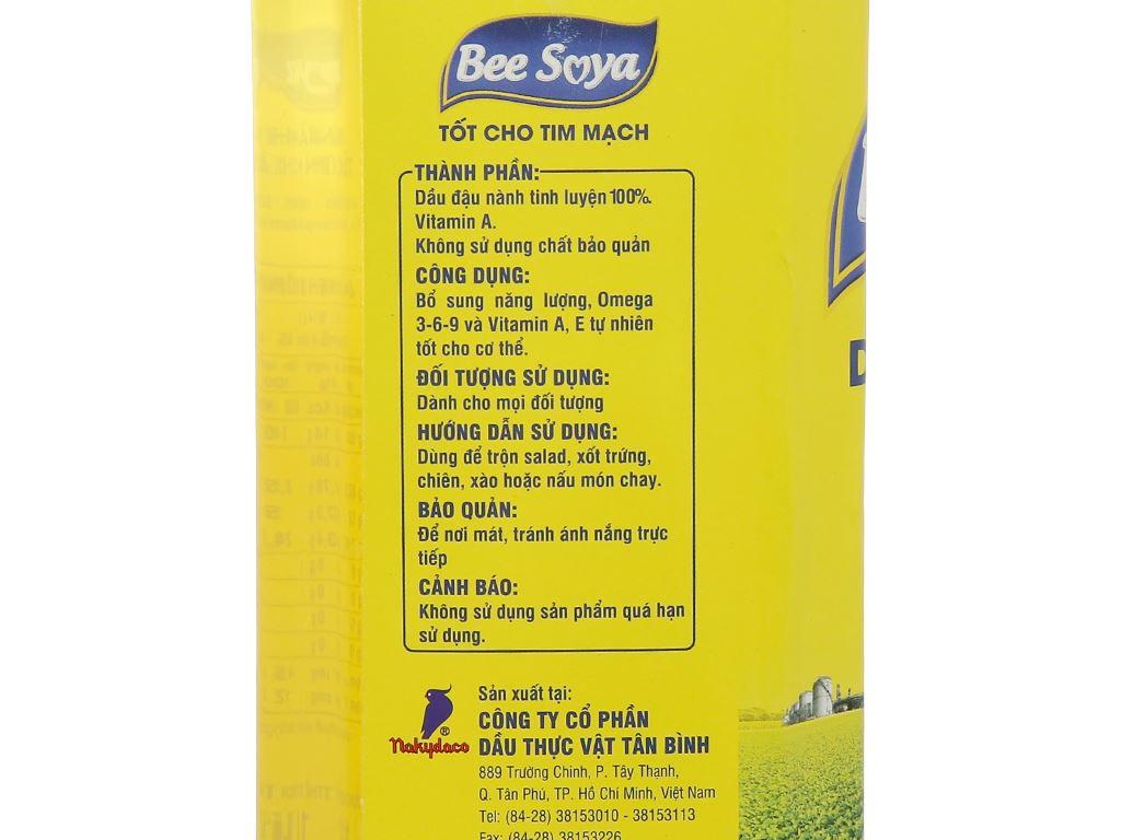 Dầu đậu nành Nakydaco Bee Soya chai 1 lít 4