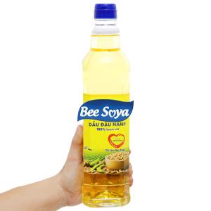 Dầu đậu nành Bee Soya Nakydaco chai 1 lít