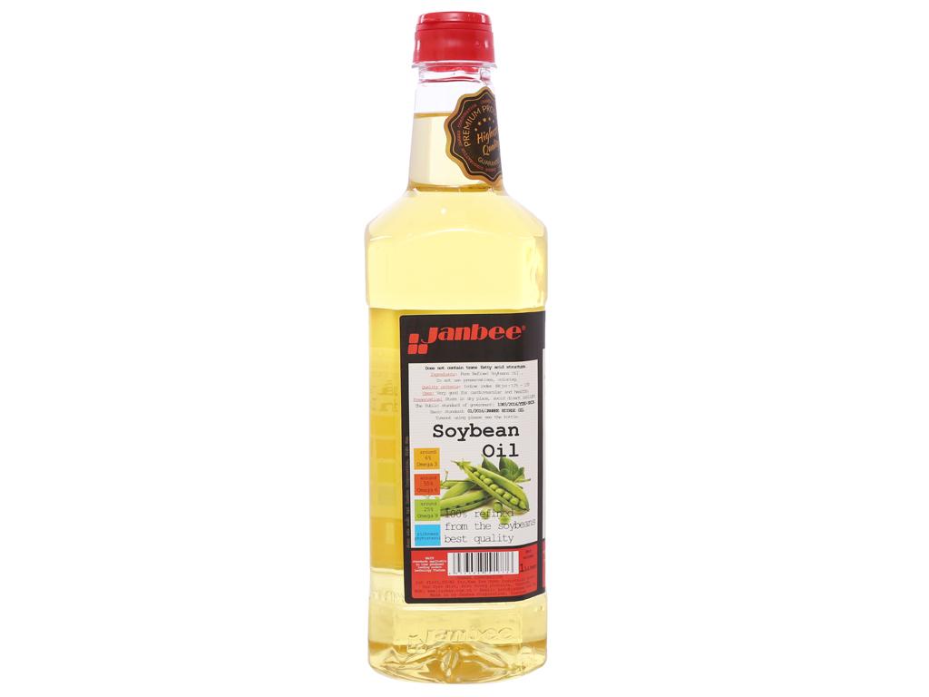 Dầu đậu nành tinh luyện Janbee chai 1 lít 2