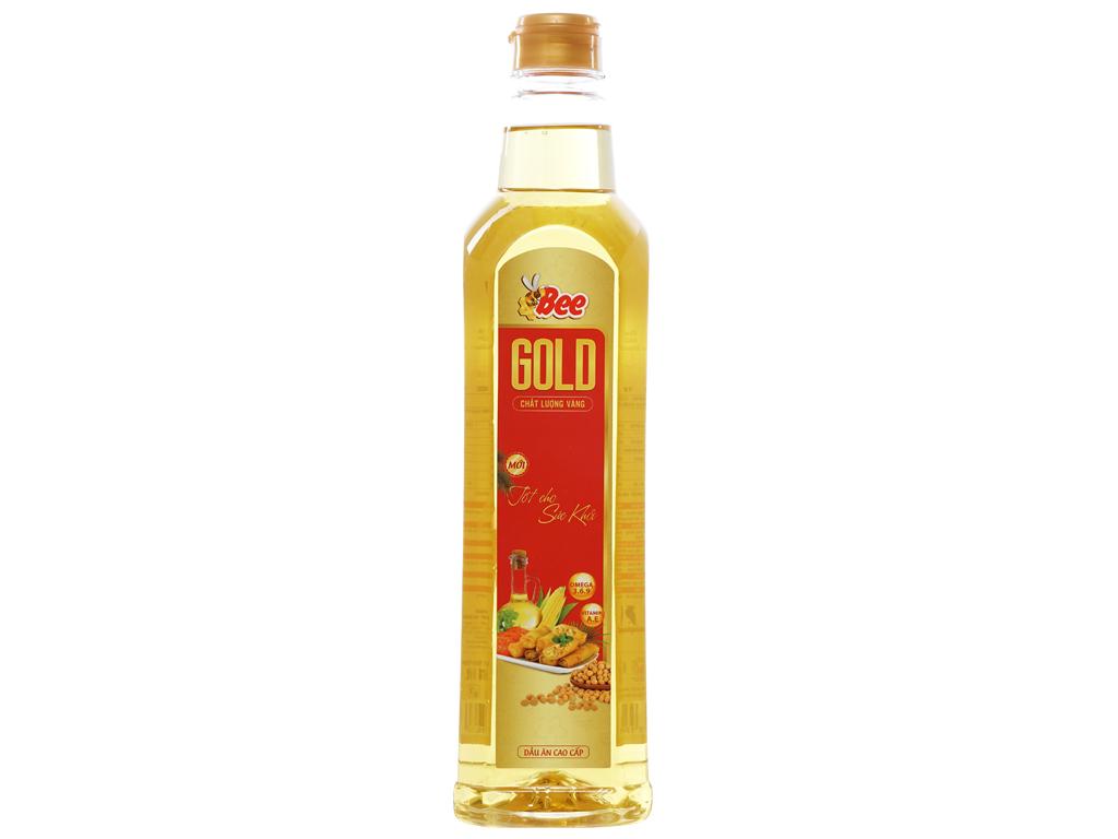 Dầu ăn cao cấp Bee Gold Nakydaco chai 1 lít 1