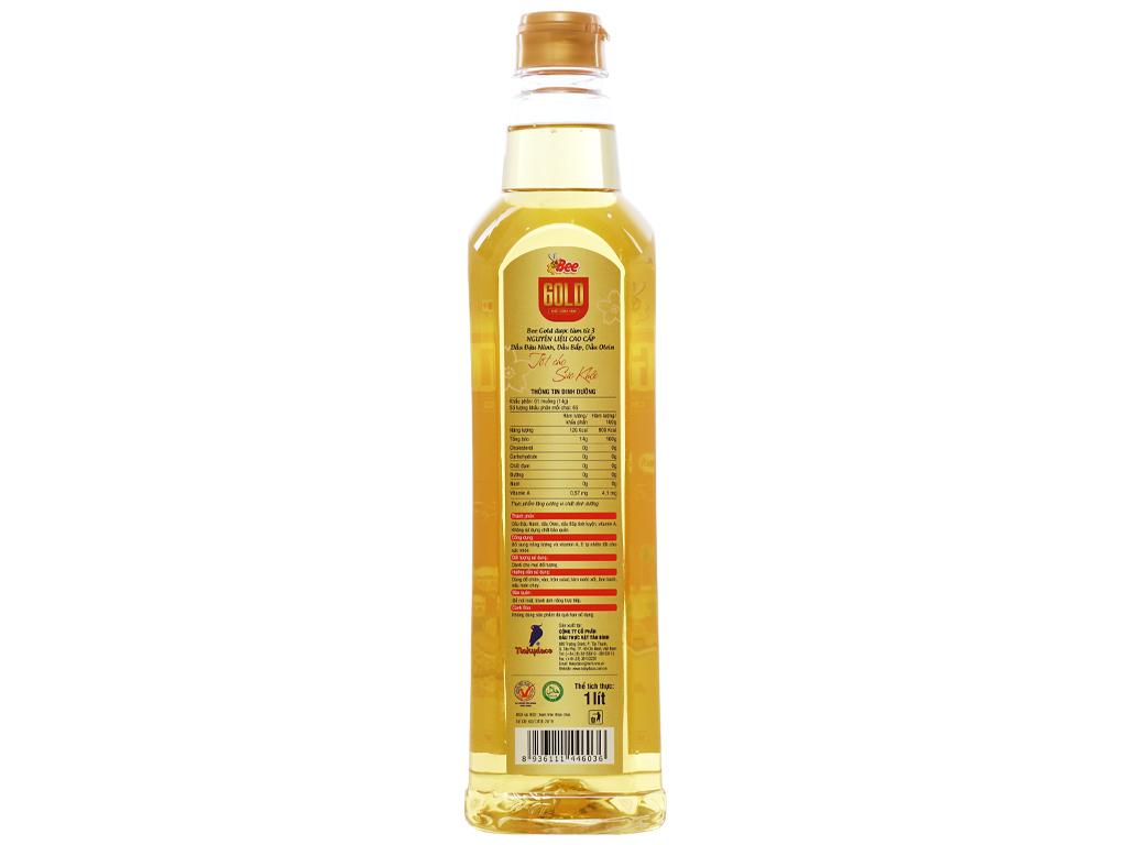 Dầu ăn cao cấp Bee Gold Nakydaco chai 1 lít 2