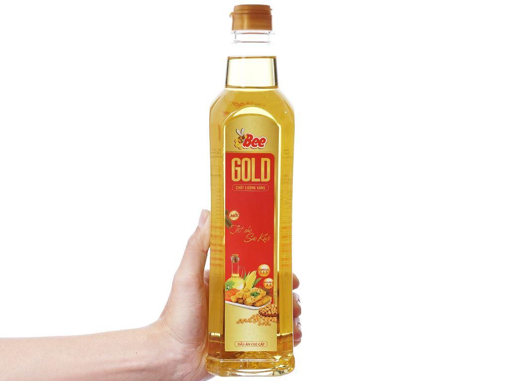 Dầu ăn cao cấp Bee Gold Nakydaco chai 1 lít 4