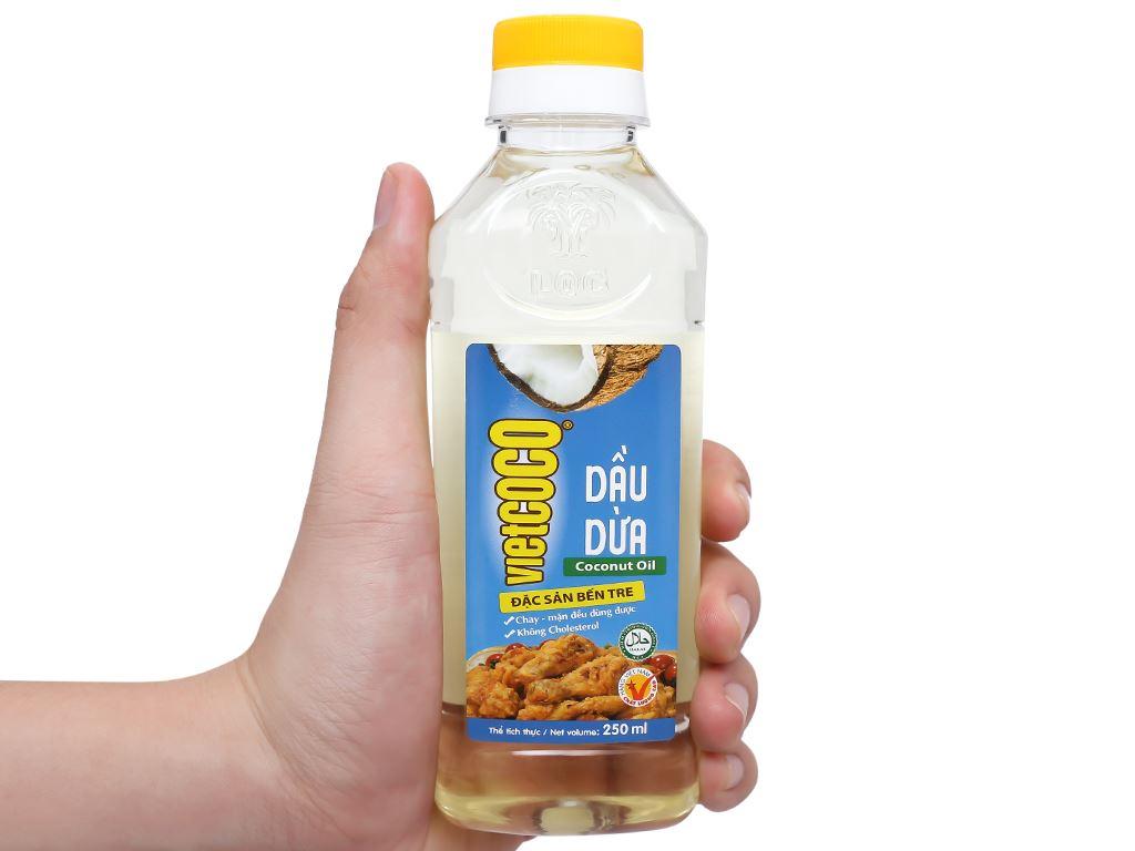 Dầu dừa tinh luyện Vietcoco chai 250ml 6