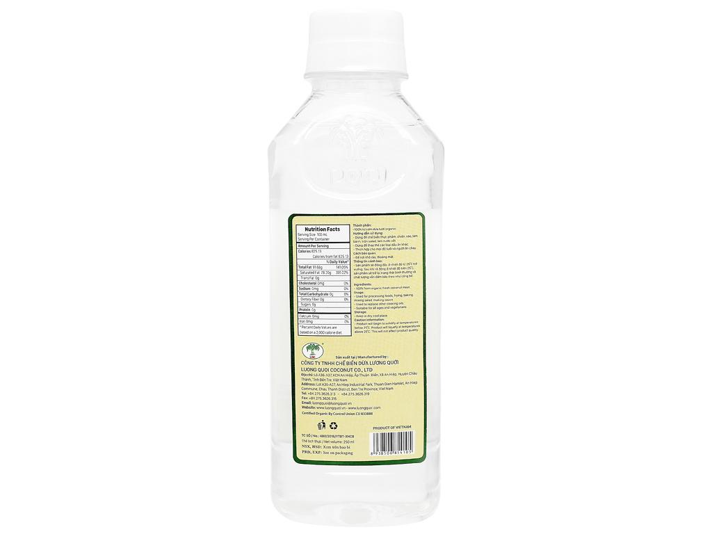 Dầu dừa nguyên chất Organic Vietcoco chai 250ml 3