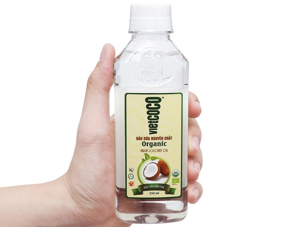 Dầu dừa nguyên chất Organic Vietcoco chai 250ml 5