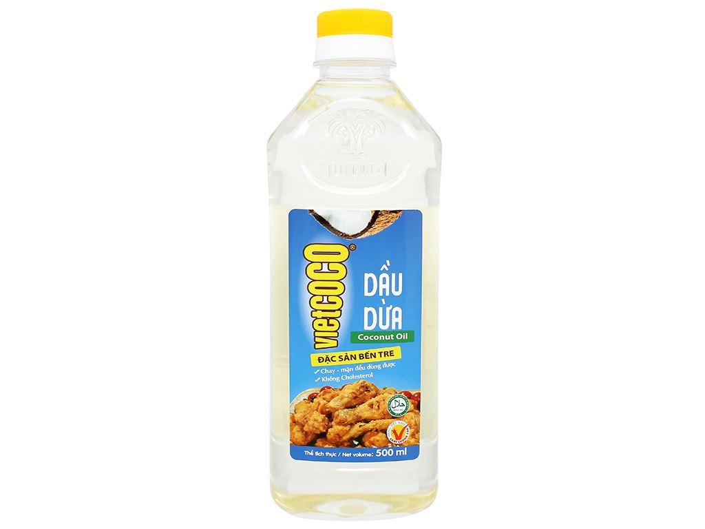Dầu dừa tinh luyện Vietcoco chai 500ml 2