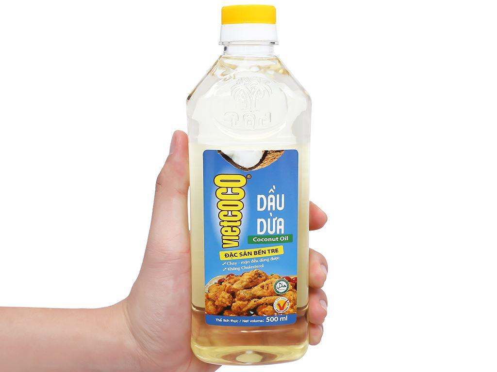 Dầu dừa tinh luyện Vietcoco chai 500ml 6