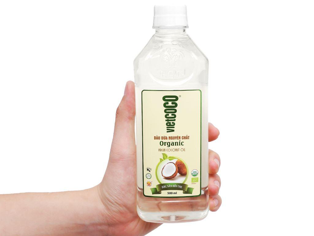 Dầu dừa nguyên chất Organic Vietcoco chai 500ml 5