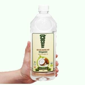 Dầu dừa nguyên chất Organic Vietcoco chai 1 lít