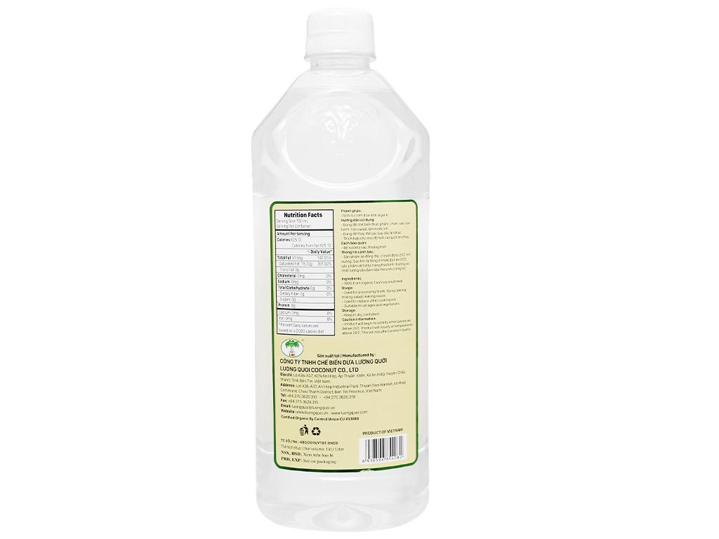 Dầu dừa nguyên chất Organic Vietcoco chai 1 lít 2