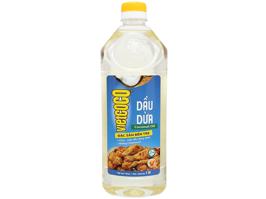 Dầu dừa tinh luyện Vietcoco chai 1 lít 2