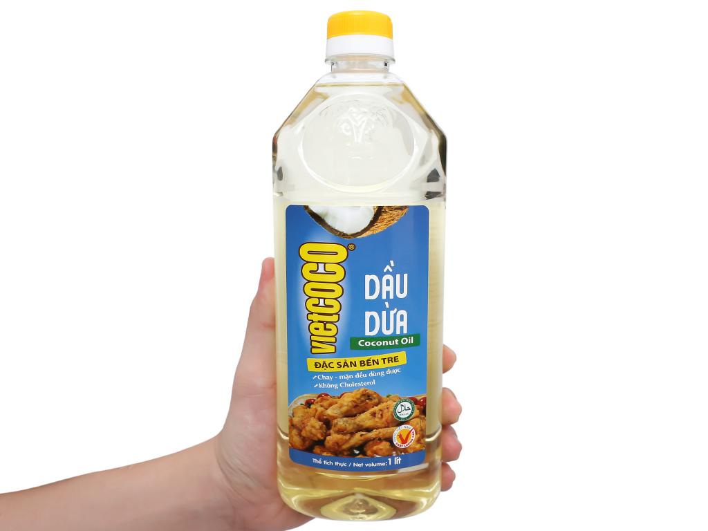 Dầu dừa tinh luyện Vietcoco chai 1 lít 6