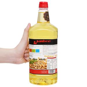 Dầu đậu nành tinh luyện Janbee chai 2 lít