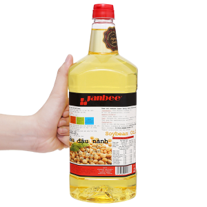 Dầu đậu nành tinh luyện Janbee can 2 lít