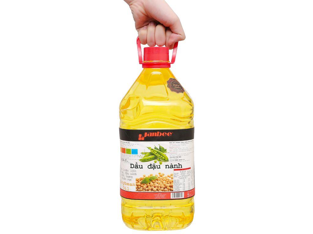 Dầu đậu nành tinh luyện Janbee can 5 lít 6