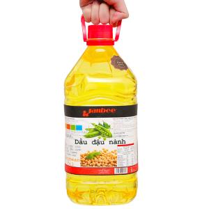 Dầu đậu nành tinh luyện Janbee can 5 lít