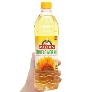 Dầu hướng dương nguyên chất Meizan chai 1 lít