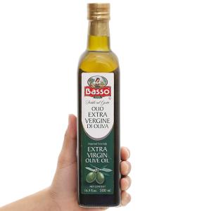 Dầu olive Extra Virgin Basso chai 500ml
