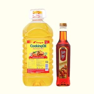 Combo dầu ăn 5 lít và nước mắm 650ml