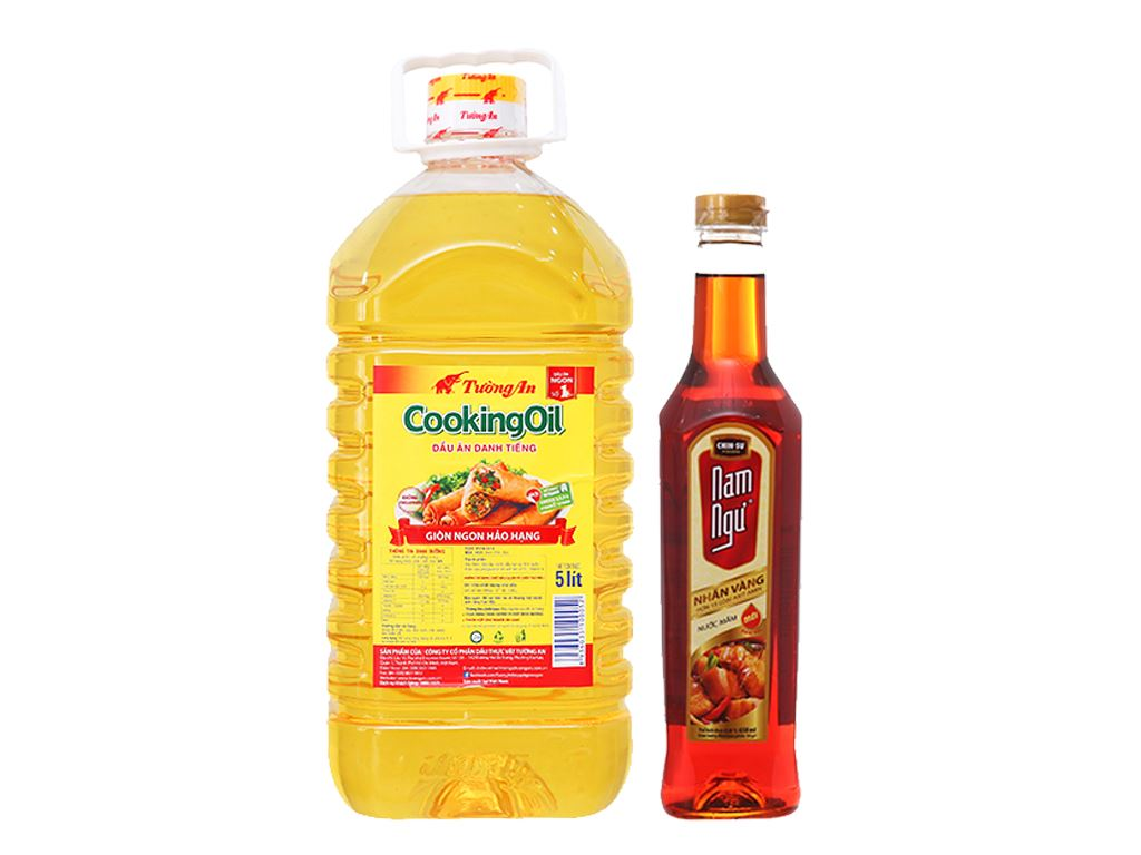 Combo dầu ăn 5 lít và nước mắm 650ml 1