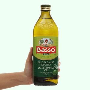 Dầu Olive Pomace Basso chai 1 lít