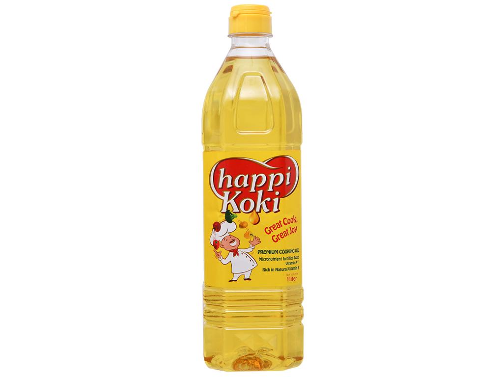 Dầu ăn cao cấp Happy Koki chai 1 lít 1