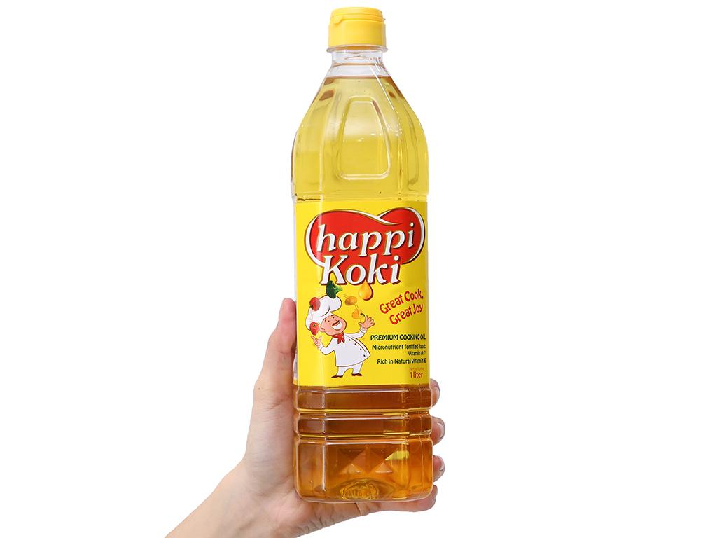 Dầu ăn cao cấp Happy Koki chai 1 lít 3