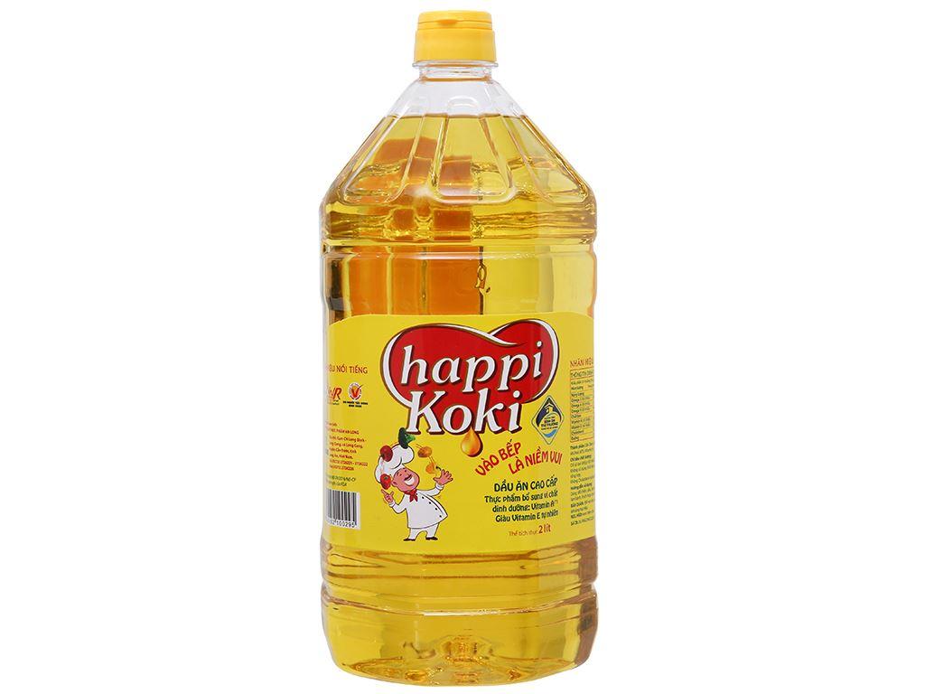Dầu ăn cao cấp Happy Koki chai 2 lít 2