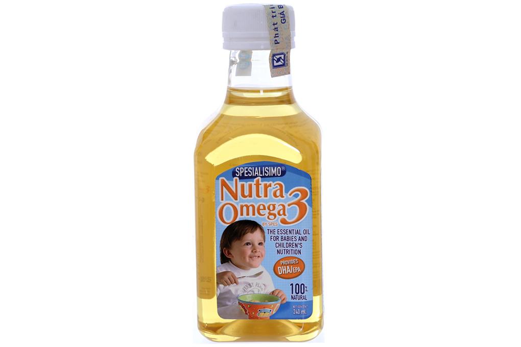 Dầu cá hồi cho bé Nutra Omega 3 chai 240ml 2