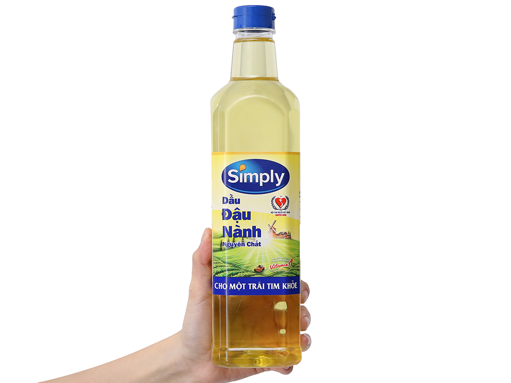 Dầu đậu nành nguyên chất Simply chai 1 lít 3