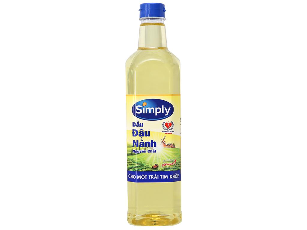Dầu đậu nành nguyên chất Simply chai 1 lít 1