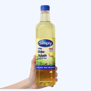 Dầu đậu nành nguyên chất Simply chai 1 lít