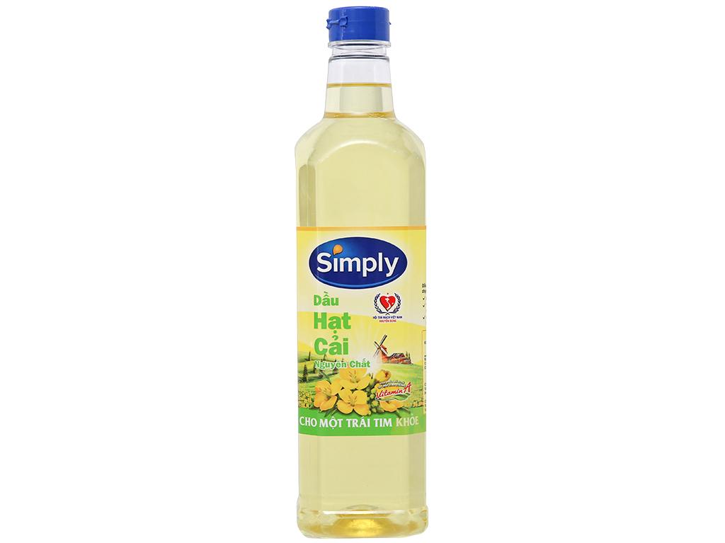 Dầu hạt cải nguyên chất Simply chai 1 lít 1