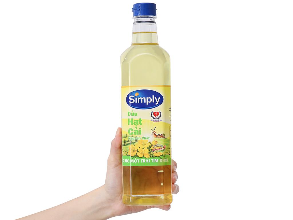 Dầu hạt cải nguyên chất Simply chai 1 lít 3