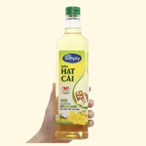 Dầu hạt cải nguyên chất Simply chai 1 lít