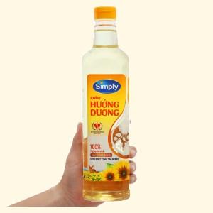 Dầu hướng dương nguyên chất Simply chai 1 lít