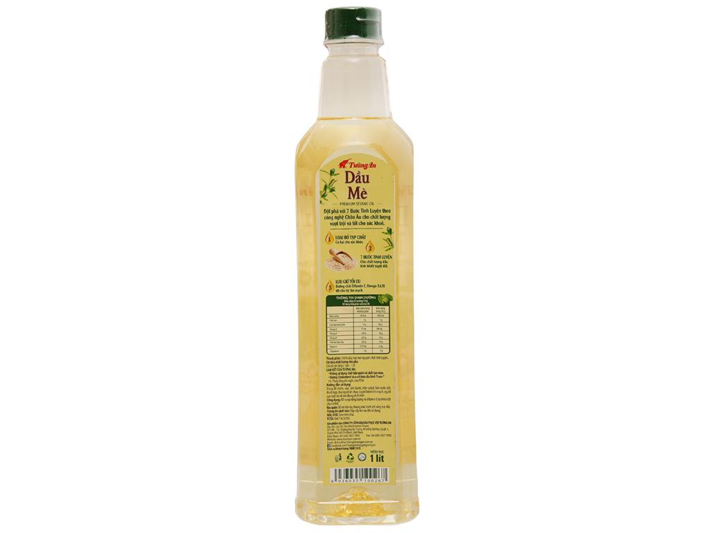 Dầu mè nguyên chất 100% Tường An chai 1 lít 2