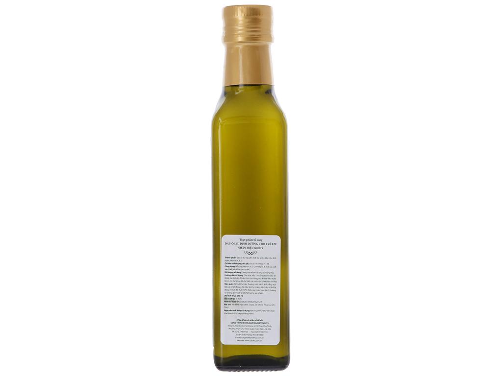Dầu olive cho bé Kiddy chai 250ml 2