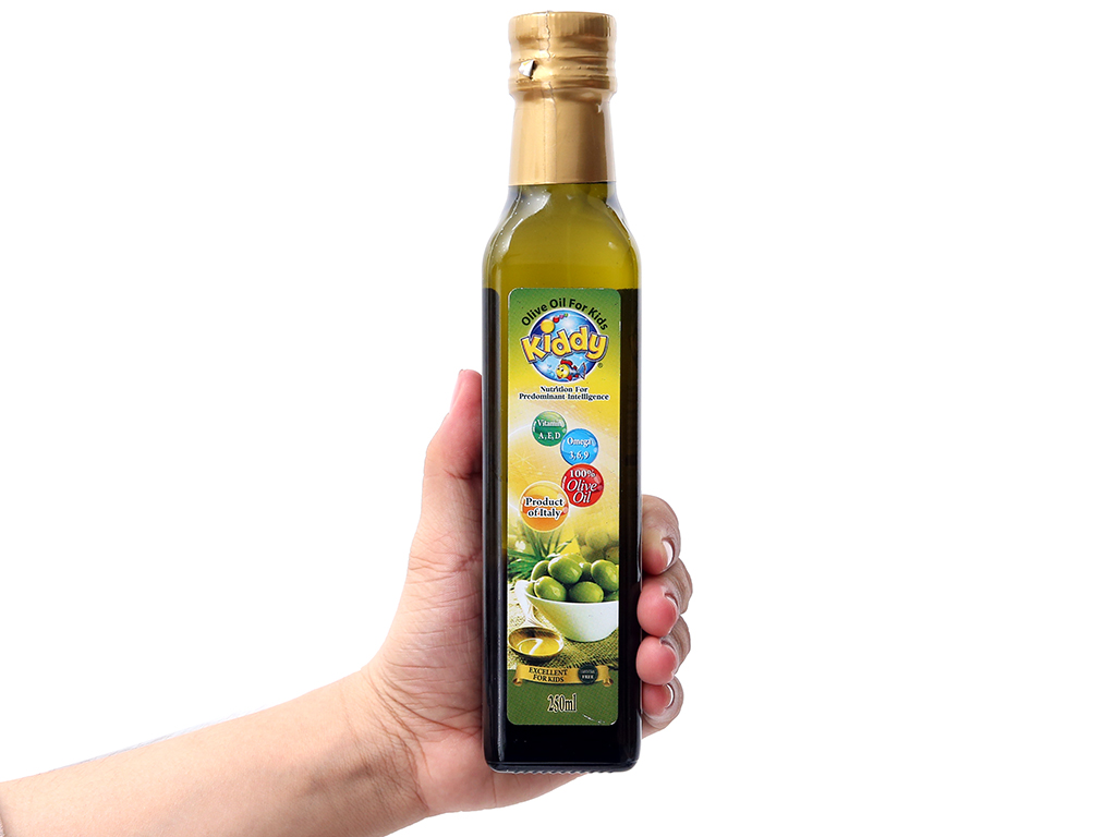 Dầu olive cho bé Kiddy chai 250ml 3