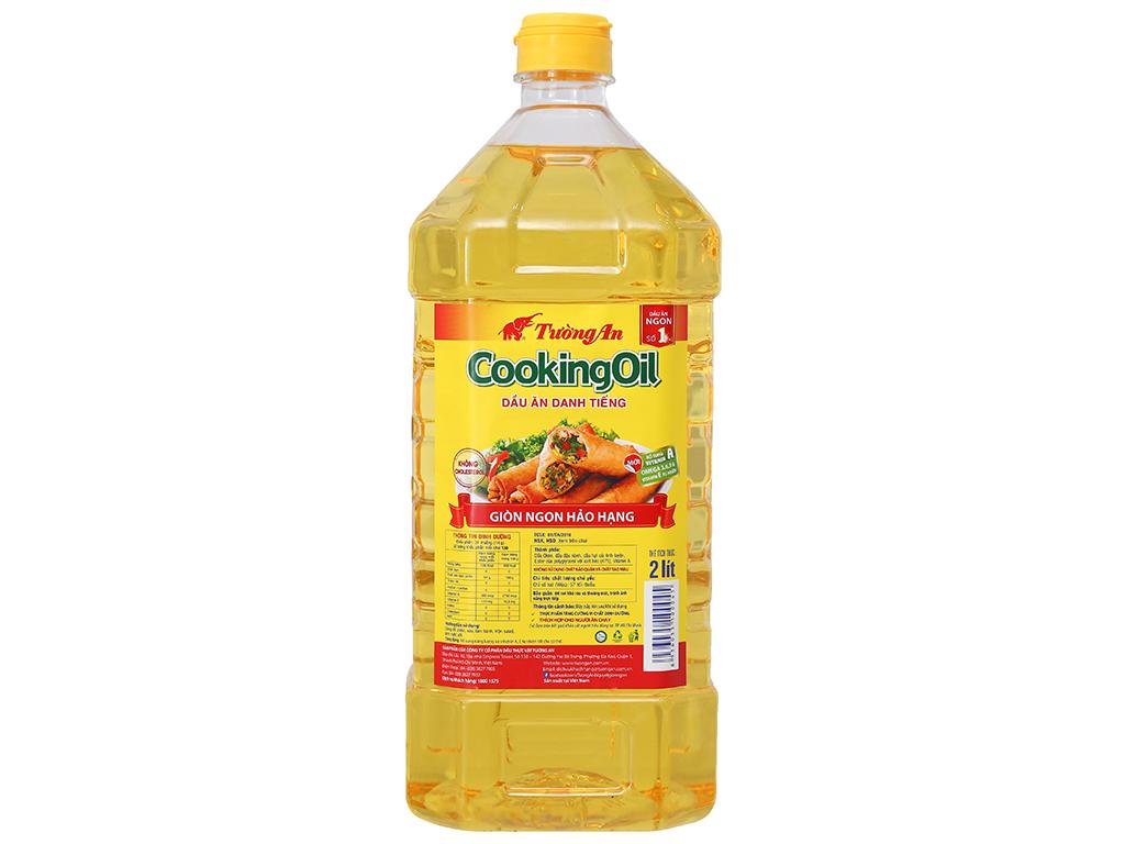 Dầu thực vật Tường An Cooking oil bình 2 lít 1