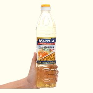 Dầu đậu nành Marvela chai 1 lít