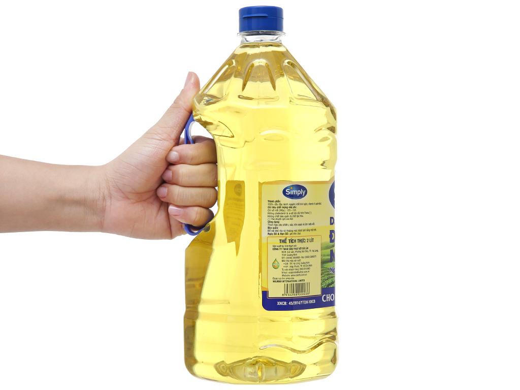Dầu đậu nành nguyên chất Simply chai 2 lít 3
