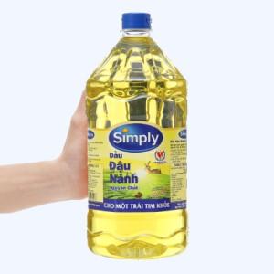 Dầu đậu nành nguyên chất Simply can 2 lít