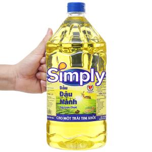Dầu đậu nành nguyên chất Simply chai 2 lít