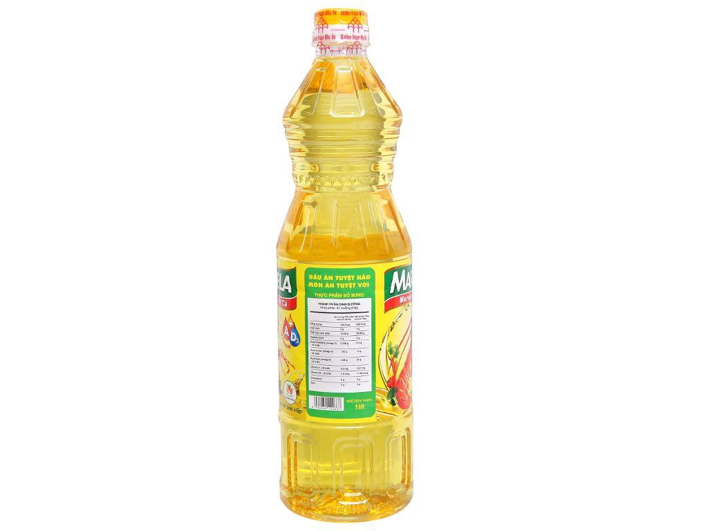 Dầu ăn bổ sung vitamin A và D3 Marvela chai 1 lít 3