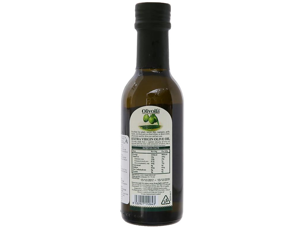 Dầu olive Extra Virgin Olivoilà chai 250ml 2