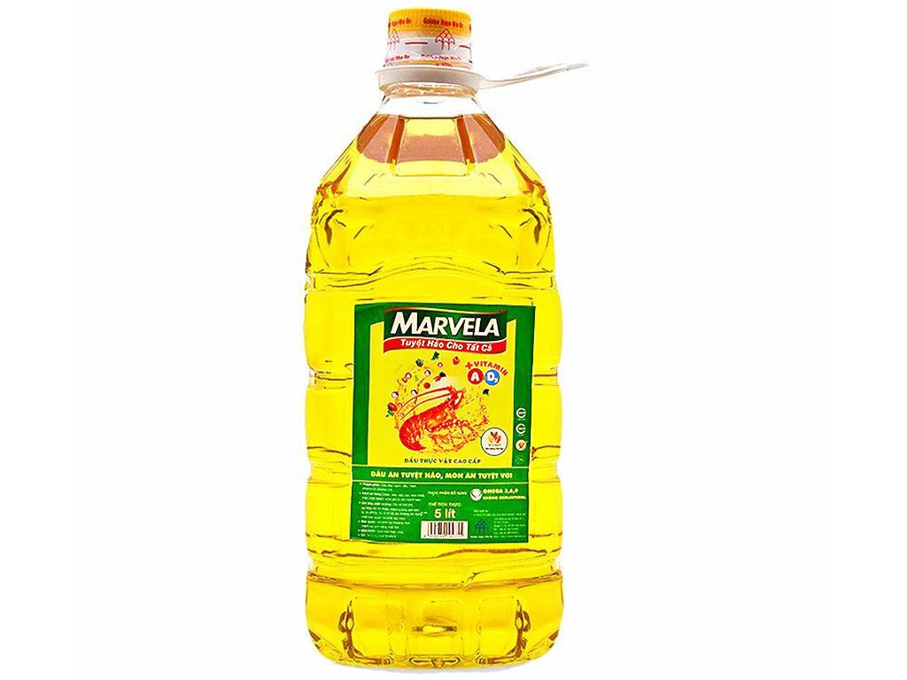 Dầu ăn bổ sung vitamin A và D3 Marvela can 5 lít 1