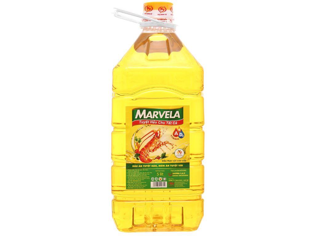 Dầu ăn bổ sung vitamin A & D3 Marvela can 5 lít 1