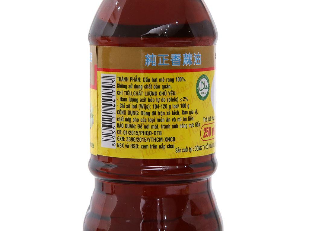 Dầu mè thơm nguyên chất Nakydaco chai 250ml 6