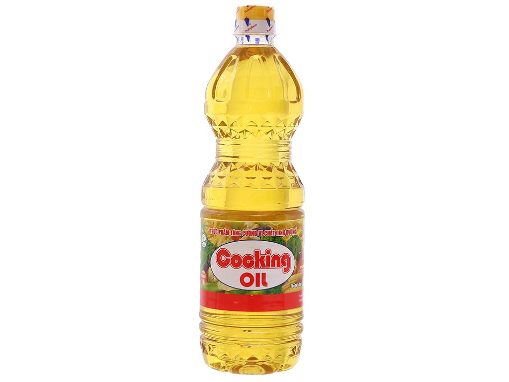 Dầu thực vật Nakydaco Cooking oil chai 1 lít 1